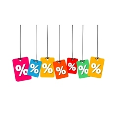 Colorful hanging cardboard tags - discount vector