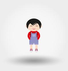 baby boy icon flat vector image vector image