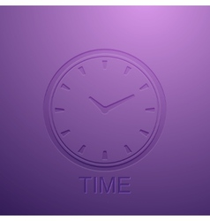 Background with clock icon vector