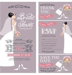 Bridal showerwedding cardsbridedecoration vector