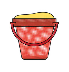 bucket of sand toy vector image