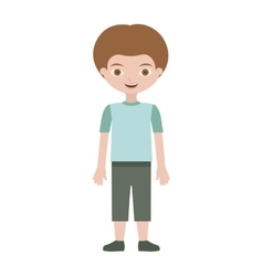 Child with t-shirt and shorts vector
