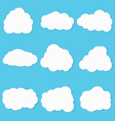 clouds set on blue background vector image vector image