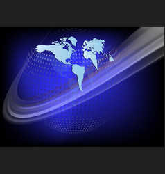 Dark blue background with planet earth vector