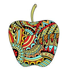 Decorative colored apple vector image