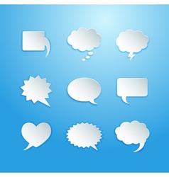 Empty speech bubbles vector image