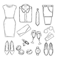 evening party clothes set vector image vector image