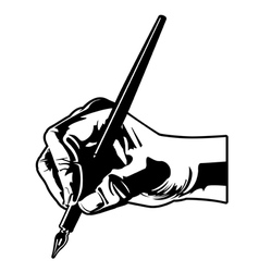 holding a pen vector image vector image