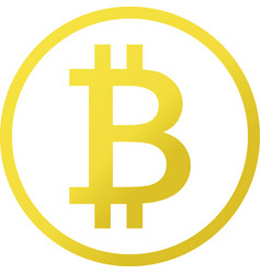 Icon of bitcoin cryptocurrency symbol vector