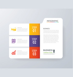 Infographic vertical 3 tab index design vector