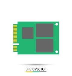 Msata solid state drive ssd vector