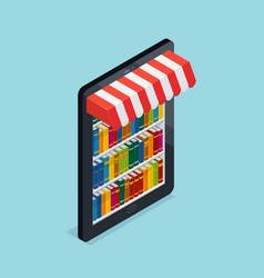 Online bookstore isometric vector