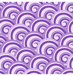Purple seamless swirl pattern vector