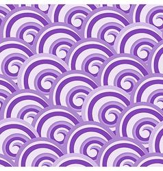 Purple seamless swirl pattern vector image vector image