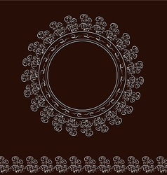round frame on brown vector image