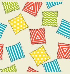 seamless pattern with multicolored decorative vector image