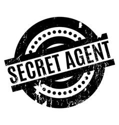 Secret agent rubber stamp vector