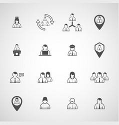 set people design icon vector image