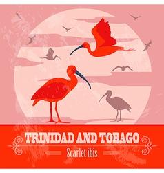 Trinidad and tobago national symbols scarlet red vector