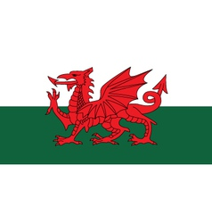 wales flag vector image vector image