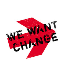 We want change rubber stamp vector