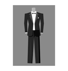 Wedding tuxedo icon gray monochrome style vector