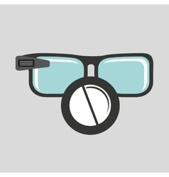 Digital glasses wifi medical pharmacy vector