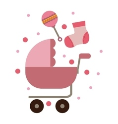 Isolated baby stroller design vector