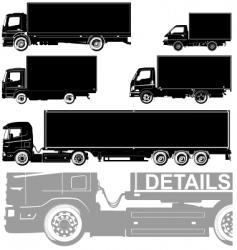 trucks silhouette vector image