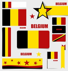 Collection of belgium flags flags concept design vector
