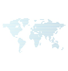 World map of blue lines vector
