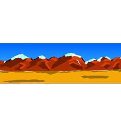 Background of a mountain range vector