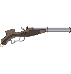 a historical pistol vector image