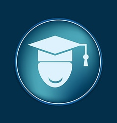 Graduate hat avatar symbol icon college or vector