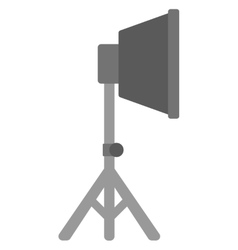 Photo studio lighting equipment vector
