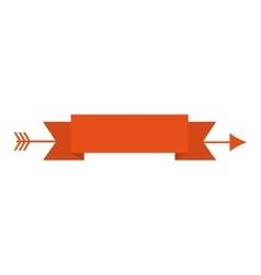 Arrow ribbon arch icon vector
