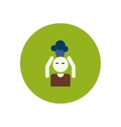 Stylish icon in color circle man headache vector