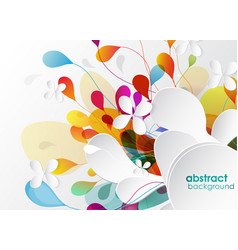 Abstract colored background with shapes vector