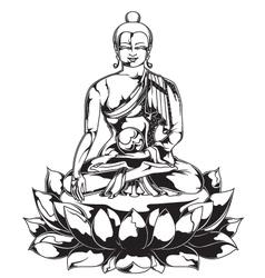 Budhha statue vector