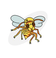 Cartoon hornet vector