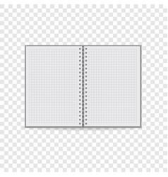 Clean notebook icon realistic style vector