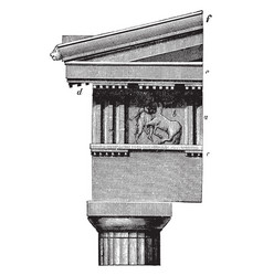 Doric order frieze the parthenon at athens vector