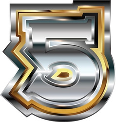 Fancy font Number 5 vector image
