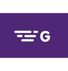 Fast line letter G logo monogram vector image