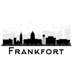 Frankfort city skyline black and white silhouette vector