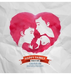 happy family logo design template motherhood or vector image vector image