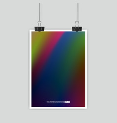 Hologram bright colorful background vector
