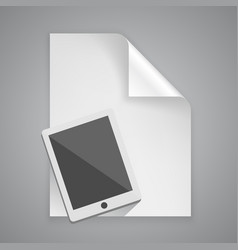 paper symbol tablet vector image vector image