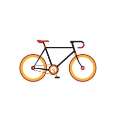 Retro bicycle on the white background vector image