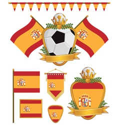 spain flags vector image vector image